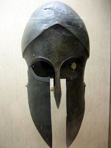 Ancient_Greek_helmet PublicDomain